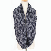Unisex Neck Warmer Thick Winter Diamond Printingknitted Loop Snood Scarf (SK155)